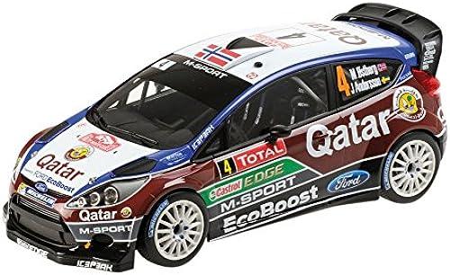 Minichamps Auto-Miniatur von Ford Fiesta RS WRC 2013 des Katar-M-Sport-Rallye-Teams aus der Rallye-Weltmeisterschaft Ma ab 1  18
