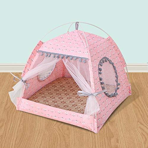 LXP Cat Summer House Atmungsaktives, Komfortables Hundezelt Faltbarer Welpenzwinger Die ganze Saison über Haus für Katzen, 6, XL