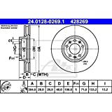 Ate 24.0128-0269.1 Rotores de Discos de Frenos, Set de 2