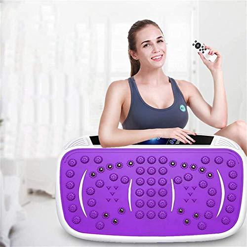 LYDIANZI Plataforma Vibratoria Fitness Multifuncional Vibrante Disco Gimnasio dedicado Interno para la pérdida de Peso de la casa de plástico Que Adelgaza la Aptitud Estilo de Moda (Color : Purple)