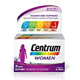 Centrum Women Multivitamin & Mineral Tablets, 24 Essential Nutrients Including Vitamin D, Complete Multivitamin Tablets, 30 Tablets