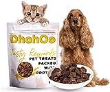 Dhohoo Natural Hunde- und Katzenleckerlies, 100% Thunfisch-Hundesnacks, Naturfisch-Rohkost für Hunde und Katzen. Getreide-, Gluten- und laktosefreie Katzen Leckerlies. (Thunfisch, 100 g)