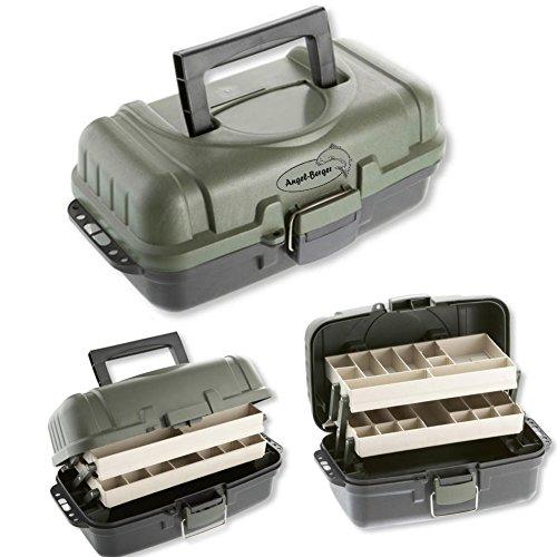 Deluxe Gerätekoffer Angelkoffer Angeltasche Verschiedene Größen (2 ladig)