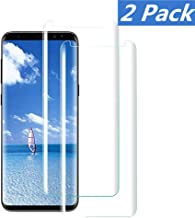 Compatible [2 - Pack] Samsung Galaxy S8 Tempered Glass Screen Protector,[9H Hardness][Anti-Scratch] [Anti-Fingerprint][3D Curved][Ultra Clear] Screen Protector for Galaxy S8