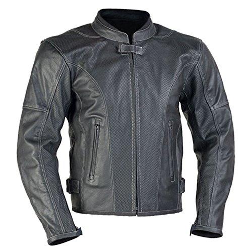 MBW Motorrad Leder Jacke Larros perforiert Größe 54