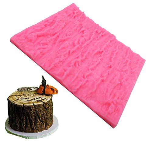 Molde de silicona con textura de corteza de árbol para decoración de tartas