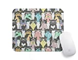Personalized Cat Mouse Pads for Computers - Lover Gift School Supplies Office Home Decor Spectacle Cat Mouse Pad Funny Mini Mousepad Office Supplies Office Desk Accessories Funny Mouse Mat.