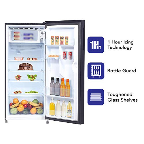 Haier 195 L 3 Star Direct-Cool Single Door Refrigerator (HRD-1953CKS-E, Black Brushline) 5