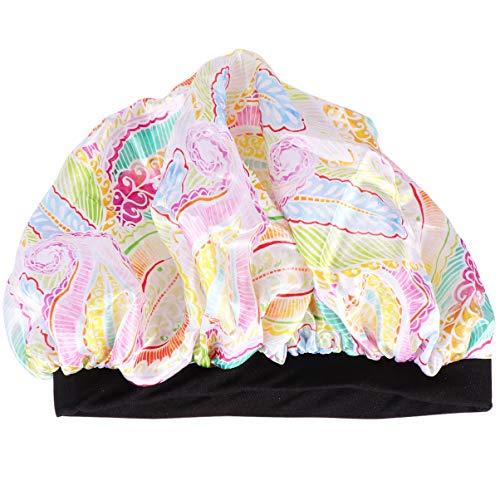 HEALLILY Bonnet de Nuit en Soie Couvre-Tête Élastique Bonnet Bonnet de Nuit pour Dormir Bonnet en Soie avec Bande Élastique Color Couleur Assortie)