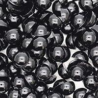 アクリル 半円 半球 マルポコ ラインストーン デコ電 ネイル デコパーツ 3mm ブラック