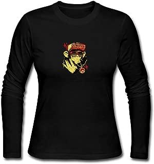 Hip Hop Monkey Fashion Women's Everyday Long Sleeve Custom Cotton Crew-Neck Sweatshirt Top Black
