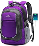 Backpack for School Bookbag College Student Travel Business Hiking Fit Laptop(Purple)