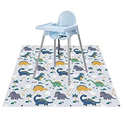 Dinosaur high chair splat mat