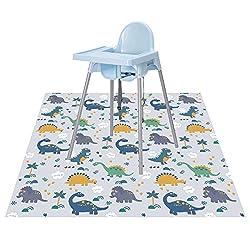 in budget affordable CLCROBD Splat Floor Mat Feeding Chair / For Handicrafts, Waterproof Non-Slip Food Splash 51 ″…