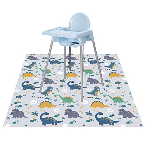 Splat Floor Mat for Under High Chair/Arts/Crafts by CLCROBD, 51' Waterproof Anti-Slip Food Splash Spill Mess Mat, Washable Portable Picnic Mat and Table Cloth