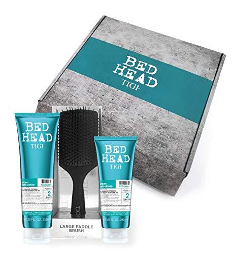 Tigi Bed Head - Paquete de regalo – Champú y acondicionador para la hidratación del cabello + cepillo para el cabello