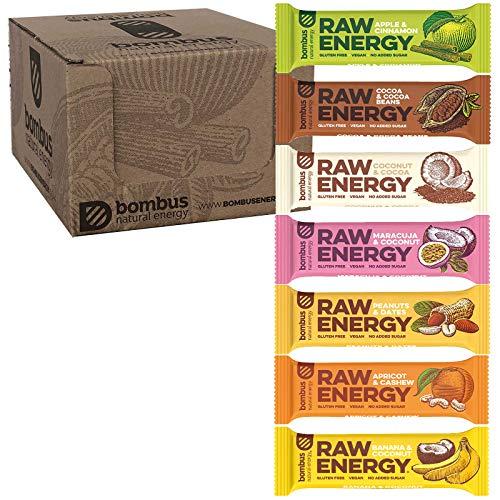 Bombus Energieriegel - Vegan Raw Glutenfrei ohne Zusatz von Zucker und ohne Konservierungsstoffe (Probierpaket 7 Riegel)