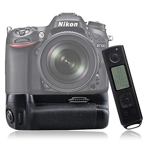 Mcoplus DR7100 Grip Batería para Nikon D7100 Incluye Mando a Distancia, Color Negro