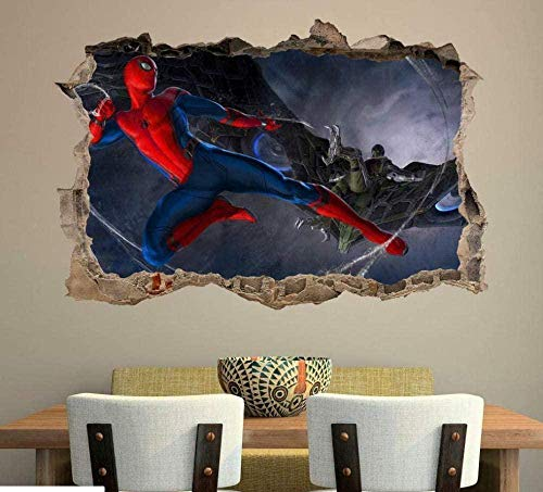 SULI - Adhesivo decorativo para pared, diseño de Spider Man Homecoming 3D