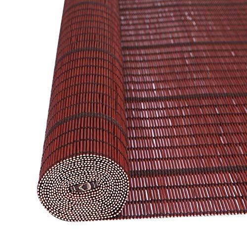 H.ZHOU Wohnzimmer Roller Shades, Landhaus-Stil Bambus Roll Up Rolläden, Shading Balkon Trennwand, for Gazebo Veranda Carports Sonnenschutz G5105 (Size : 60×60CM)