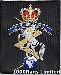 MOD approved - British Army REME Royal Electrical and Mechanical Engineers Embroidered Crest Badge Blazer Patch