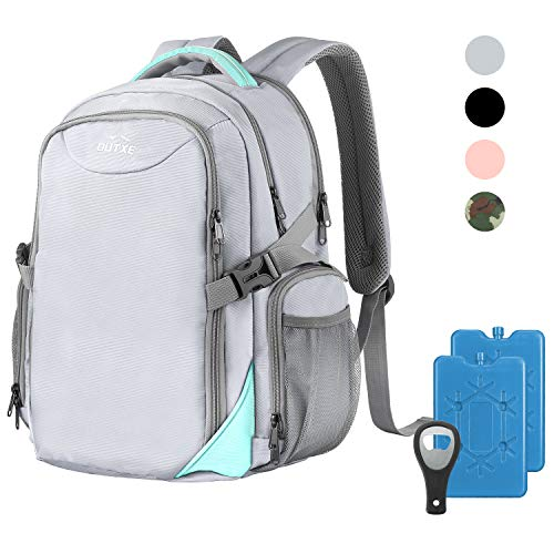 """OUTXE Cooler Backpack Insulated Cooler Bag 22L for 15"""" laptops Lunch Backpack,Grey"""