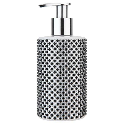 VIVIAN GRAY 3080 Diamonds Seifenspender mit Creme Seife, schwarz/weiß (250 ml)