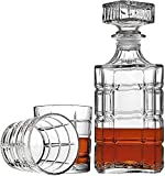 Sencillez con 6 Copa De Vino Whisky Decanter 7-PC 750ml Crystal Glass Plante Gratis para Licores Spirits Borbón Brandy Family Bar Party 10x18.2cm  …