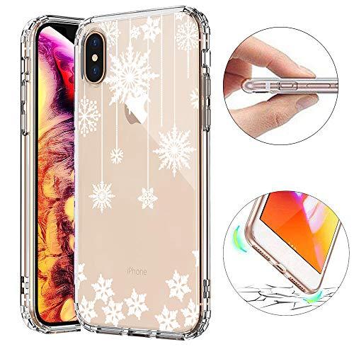 KeKeYM Weihnachts Hülle für iPhone 6 Plus, für iPhone 6S Plus 5.5 Zoll Schneedecke, Kreativ Series Muster Ultradünn Schlank Weich Elegant Haut Gummi TPU Rückseite Schutzhülle - Schneeflocke Vorhang
