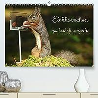 Eichhoernchen - zauberhaft verspielt (Premium, hochwertiger DIN A2 Wandkalender 2022, Kunstdruck in Hochglanz): Zauberhafte Aufnahmen von verspielten Eichhoernchen. (Monatskalender, 14 Seiten )