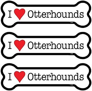 "SJT ENTERPRISES, INC. Otterhounds 3-Pack of 2 x 7"" Bone Shaped Car Magnets (SJT25439)"