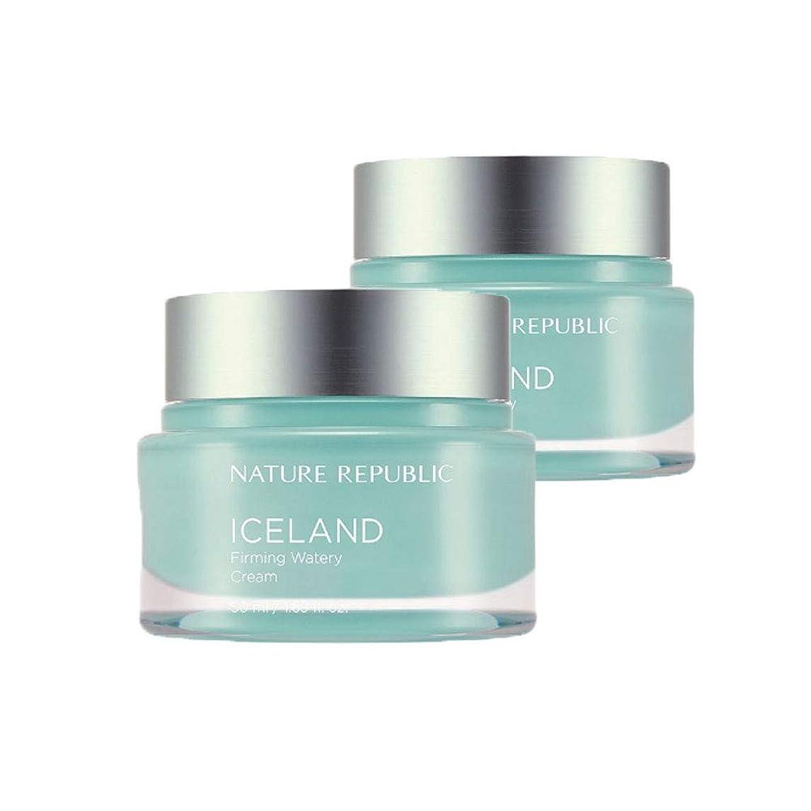 予想外しゃがむ狭いネイチャーリパブリックアイスランドファーミング水分クリーム50mlx2本セット韓国コスメ、Nature Republic Iceland Firming Watery Cream 50ml x 2ea Set Korean Cosmetics [並行輸入品]