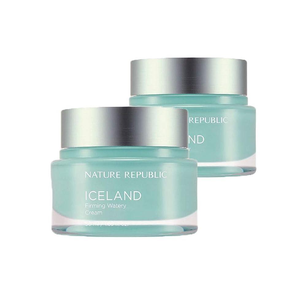寄付すり好きであるネイチャーリパブリックアイスランドファーミング水分クリーム50mlx2本セット韓国コスメ、Nature Republic Iceland Firming Watery Cream 50ml x 2ea Set Korean Cosmetics [並行輸入品]