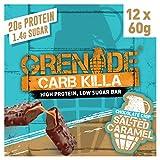 Grenade Carb Killa Barre Hyperprotéinée à Faible Teneur en Glucides 12 x 60g - Chocolate Chip Salted Caramel