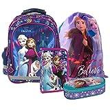 Frozen Eiskönigin Schulrucksack Schultasche Tasche Rucksack Set 4 Teilig Inklusive Sticker Von Kids4shop Federmappe Turnbeutel