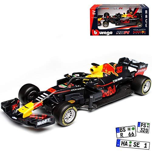 Red Bull RB14 Racing Max Verstappen Nr 33 Formel 1 2018 1/43 Bburago Modell Auto