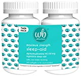 Wellness Basics Maximum Strength Sleep-Aid Diphenhydramine Softgel Twin Pack, 96 Count (Pack of 2)
