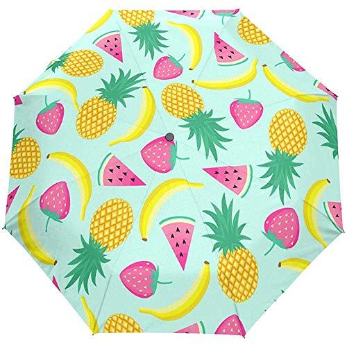 Ananas Watermeloen Banaan Aardbei Zomer Auto Open Paraplu Zon Regen Paraplu Anti UV Vouwen Compact Automatische Paraplu
