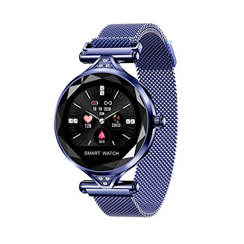 Smartwatch Fitness Tracker Smartband Sport Smart Armband gekleurde armband rond beeldscherm hartslag continu dames mode gezondheid intelligente herinnering