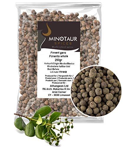 Minotaur Spices | Pimienta de Jamaica Entera | Granos de Pimienta de Jamaica | 2 x 250g (500g)