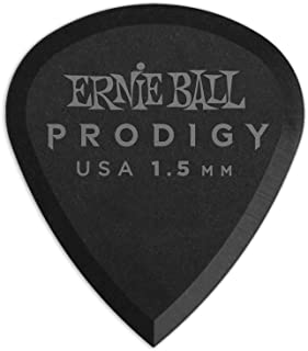 Ernie Ball P09200 Ernie Ball 1.5 mm Mini Prodigy Picks 6 Pack, Black, Black, 1.5 mm