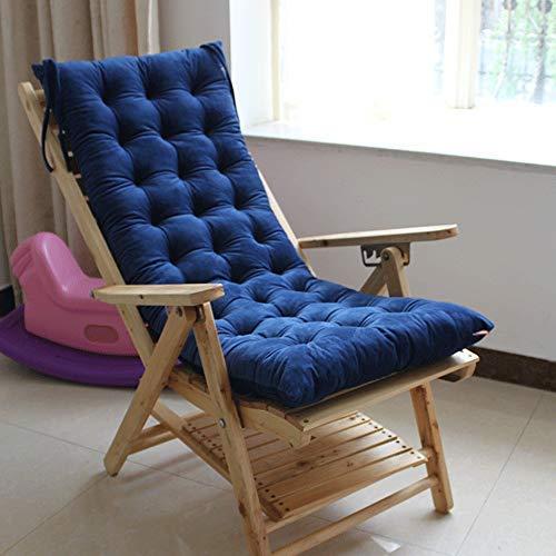 Pillowcase Thicken Seat Cushion Sofa Terrace Chair Cushion Outdoor Recliner Cushion Garden Chair Cushion for Home Office Garden (blue)