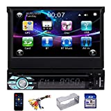 EINCAR Single Din Car DVD Player 7inch GPS Navigation System 1 Din Car Radio Capacitive Touch Screen Bluetooth Stereo Support Mirror Link FM AM RDS SWC USB SD CAM-in