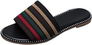 ASERTYL shoes Zapatillas de Playa Romanas con Puntera Abierta, Antideslizantes, para Mujer, de Colorblock