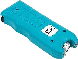 POLICE 628-58 Billion Mini Stun Gun - Rechargeable with Siren Alarm LED Flashlight, Blue