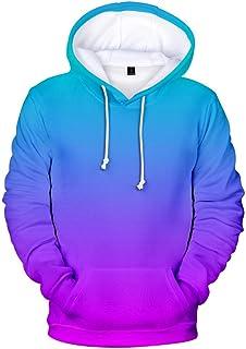 JJHAEVDY Men's Fleece Hoodies Pullover Sweatshirts Gradient Jackets Athletic Outdoor Active Wear Casual Sports Outwear