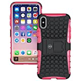 iPhone X Case for Women - iPhone X/XS Cases for Women and Girls by Cable And Case (Pink/Black)
