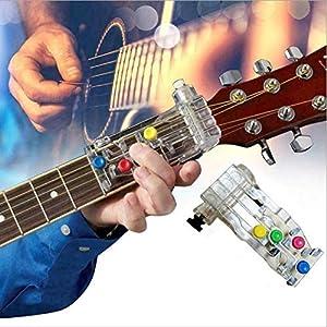 1 Pcs Gitarrenakkord-Assistent – Tragbares Handfingertrainingsgerät Lernwerkzeuge Drucktasten System-Lehrmittel für Anfänger, Nützliches Lernsystem Teaching Aid Gerät für alle Altersgruppen