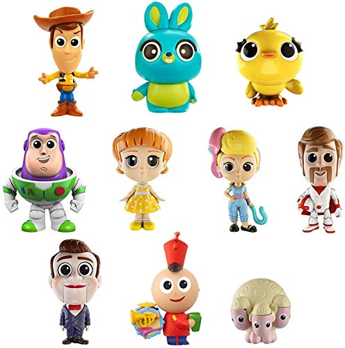 Mattel Disney Toy Story 4 Pack de 10 amiguitos, Mini Figuras