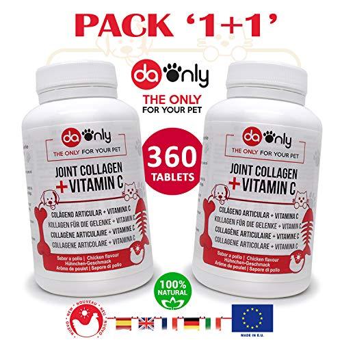 DAONLY Pack x 2 Antiinflamatorio para Perros Sabor a Pollo, Alternativa Natural a medicamentos para Perros, Cuidado de Las articulaciones como los condroprotectores, colageno articulaciones Natural